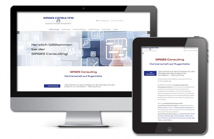 Projekt: Responsive Website für Girges Consulting