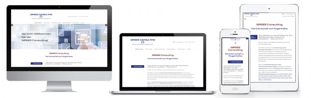 Projekt: Website responsiv für Girges Consulting