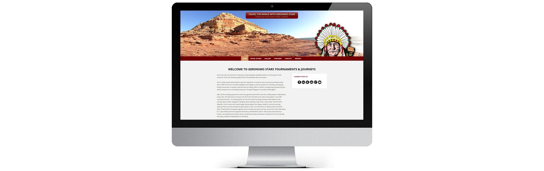 Projekt: Englischsprachige, responsive Website für Geronimo Stars