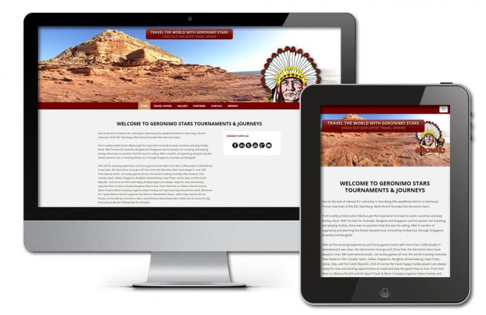 Projekt: Responsive, englischsprachige Website für Geronimo Stars