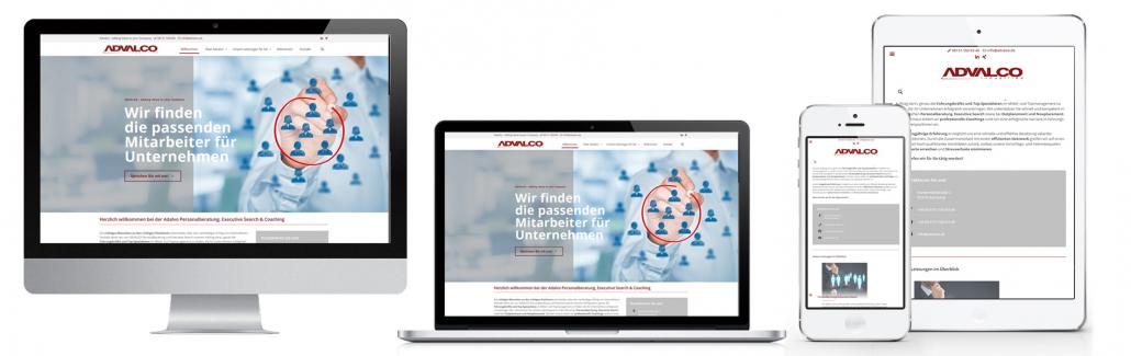 Projekt: Website Advalco Personalberatung Starnberg
