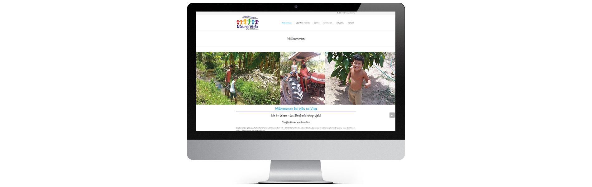 Projekt: mehrsprachige Website Nos na Vida