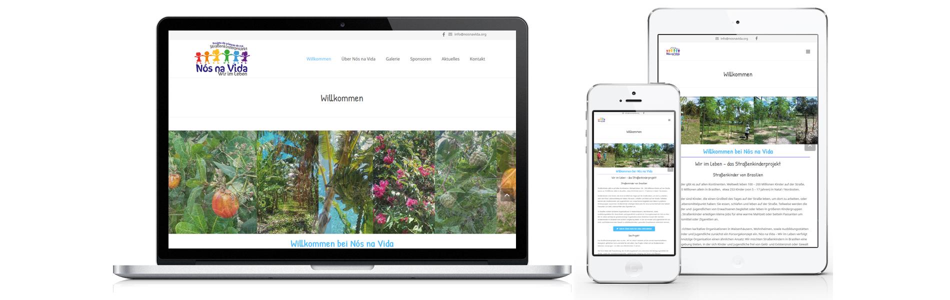 Projekt responsive, mehrsprachige Website Nos na Vida