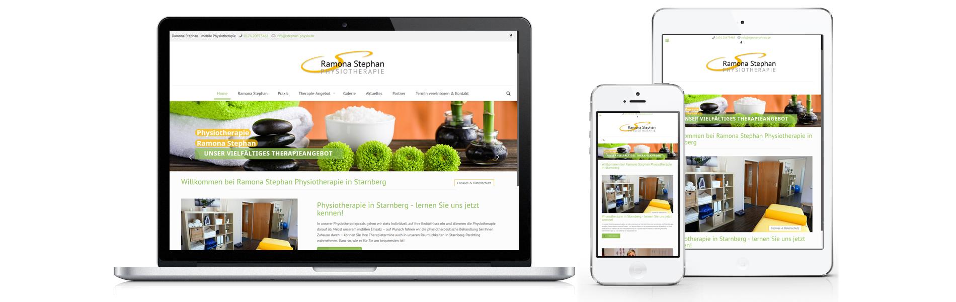 Projekt responsive Website Physiotherapie Ramona Stephan