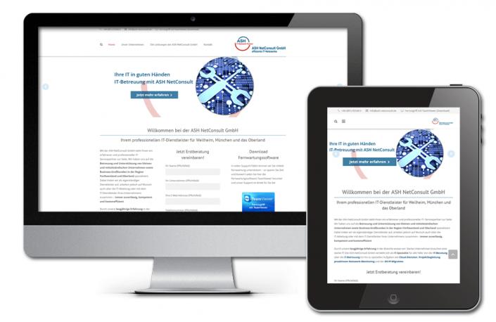 Projekt: Responsive Website für die ASH NetConsult GmbH