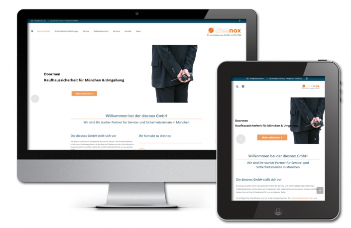 Projekt: Responsive Website für diesnox GmbH