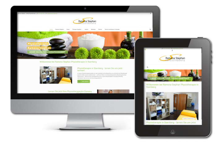 Projekt: Responsive Website für Stephan Physio