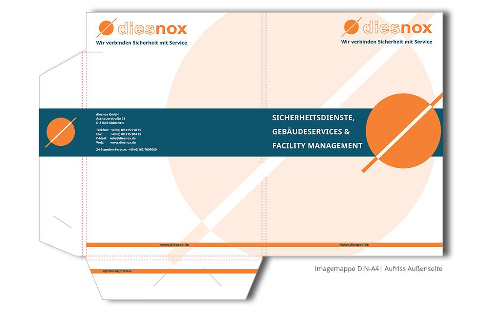 Referenz Printdesign diesnox GmbH Imagemappe