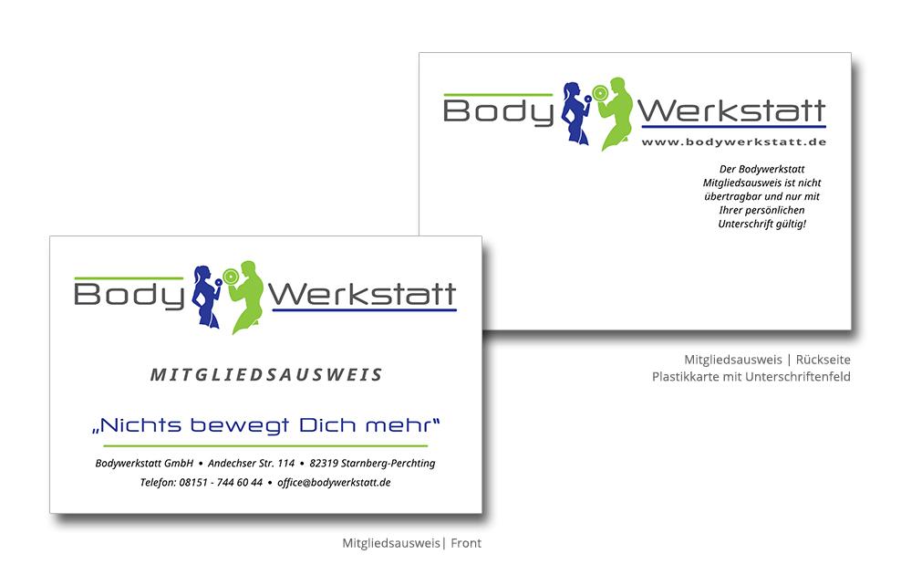 Drucksachen Print - Bodywerkstatt Mitgliedsausweis