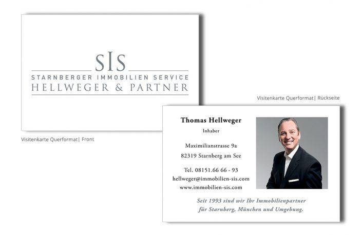 Referenz Drucksachen Drucksachen - SIS Immobilien Visitenkarte