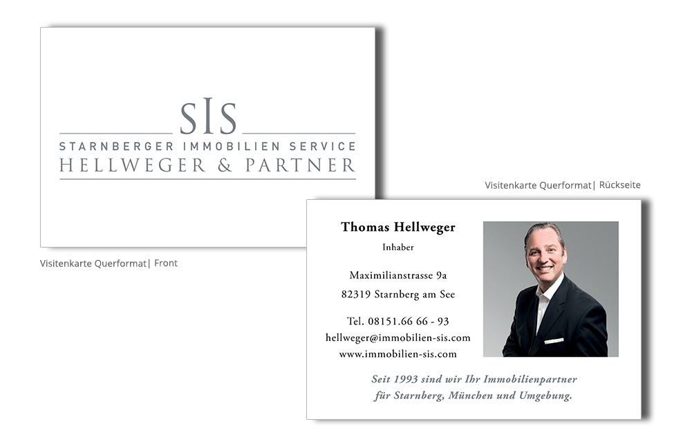 Sis Immobilien Visitenkarte K E L Media Marketing