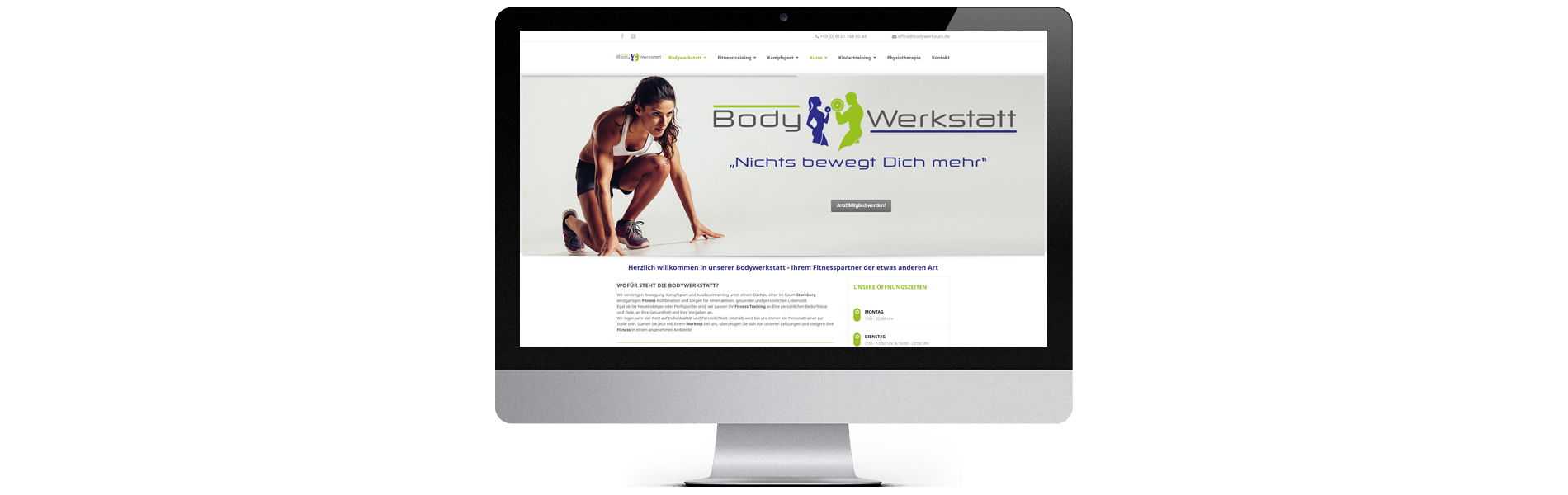 Projekt: Website Bodywerkstatt Fitnessstudio