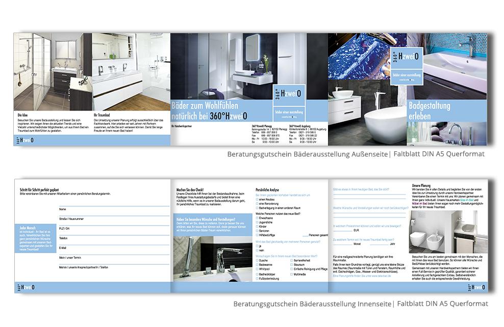 Referenz Drucksachen 360°HzweiO Faltblatt