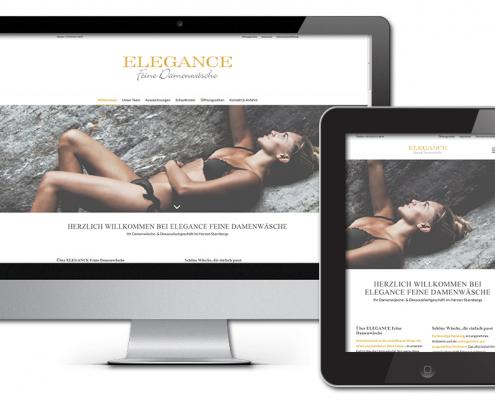 Projekt: Responsive Website für ELEGANCE Feine Damenwäsche Starnberg