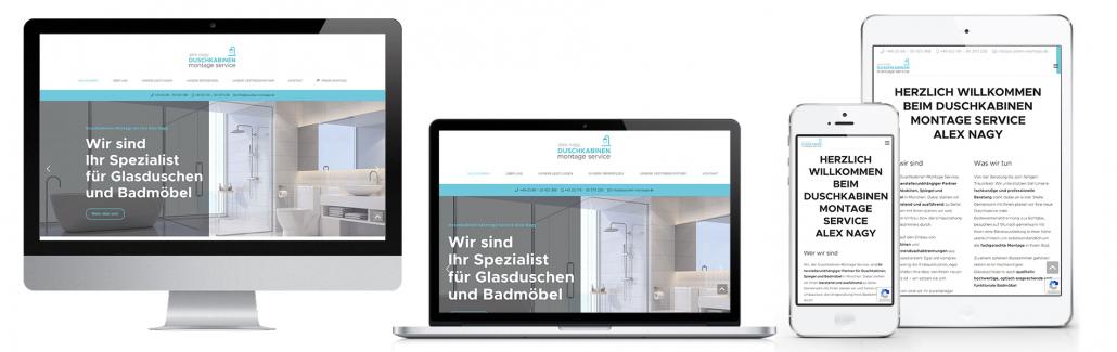 Projekt: Website responsiv für Duschkabinen Montage Service München