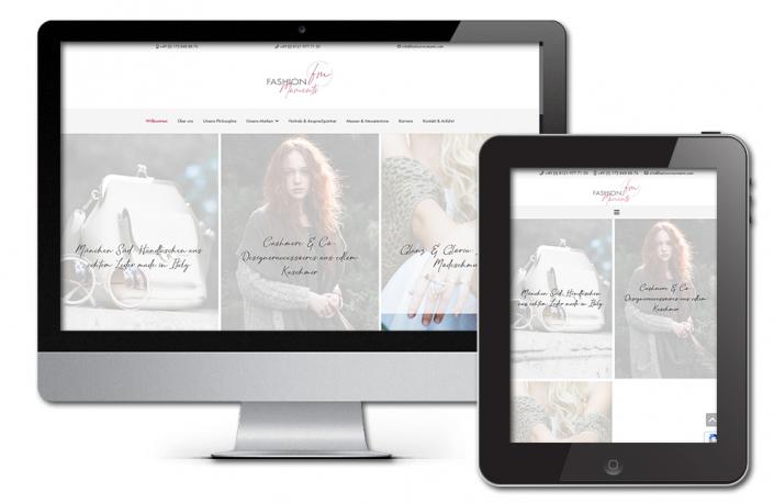 Projekt: Responsive Website für Fashion Moments Modegroßhandel