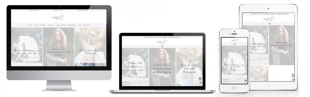 Projekt: Responsive Website für Fashion Moments München