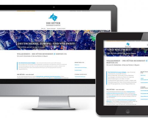 Projekt: Responsive Website für DIE HÜTER UG, Sicherheitsdienst Geretsried