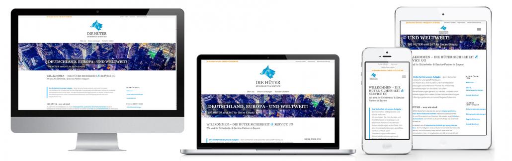 Projekt: Responsive Website für DIE HÜTER UG