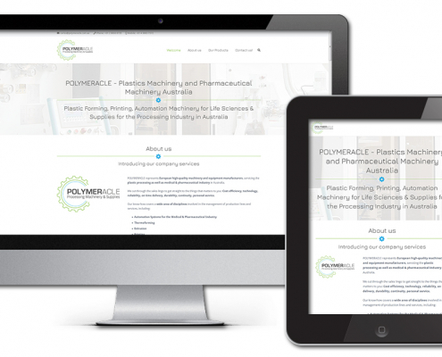 Projekt: Responsive Website für Polymeracle Handelsunternehmen Australien