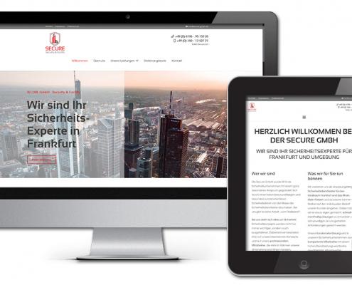 Projekt: Responsive Website für die Secure GmbH