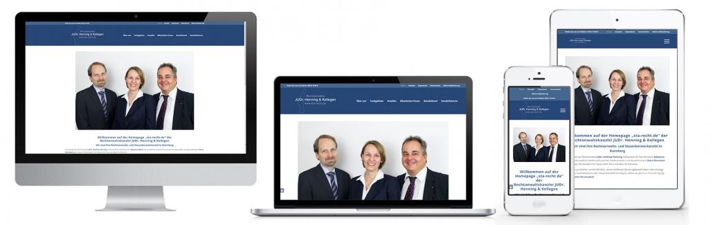 Projekt: Responsive Website für Rechtanwaltskanzlei JUDr. Henning & Kollegen