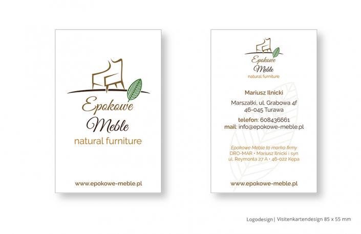 Referenz Drucksachen Print - Logodesign und Visitenkarten Epokowe Meble